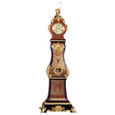 Fine Napoleon III Boulle Longcase Clock | From a unique collection of antique and modern clocks at https://www.1stdibs.com/furniture/decorative-objects/clocks/