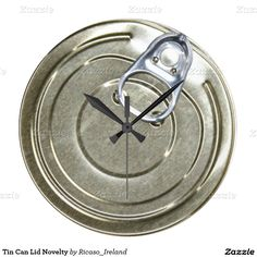 Tin Can Lid Novelty Clocks Novelty Clocks, Can Lids, Large Clock, Making Out, Tin, Canning, Snow, Home Canning, Eyes