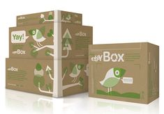 Great initiative by eBay to help save the environment - reusable boxes with a fun illustration too! :)