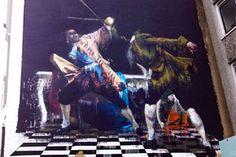Conor Harrington @ See No Evil Festival, Bristol – view more (dueling) images @ http://www.juxtapoz.com/Street-Art/connor-harrington-see-no-evil-festival – #streetart #theduelofbristol #seenoevil