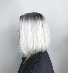STRAIGHT Formula: Joico Cabigting Free Play Lightener + Lumishine (Large sections insulated w Grey Blonde Hair, Blonde Hair Looks, Silver Grey Hair, Platinum Blonde Hair, Icy Blonde, Shadow Root Blonde, Change Hair Color, Red Hair Don't Care, Yellow Hair