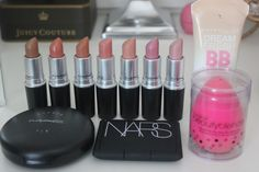 MAC,NARS, Maybelline and beauty blender.