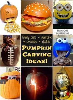 These Pumpkin Carving Ideas are so fun and cute!