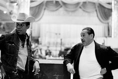 MORGAN FREEMAN and CAB CALLOWAY in an all-black production of HELLO DOLLY! during an RCA recording of the production at Webster Hall, NYC 1967.