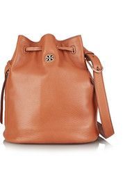 Brody textured-leather bucket bag