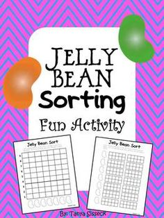This is a great sorting and graphing math activity!!  It can be used as a math center, whole class, or small group instruction.  This activity combines the fun of using graphing skills and eating tasty jelly beans.  Best of all, it's common core aligned!!