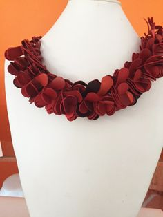 Bring your passion for fashion to the forefront with this eye-catching red neckpiece! http://instagram.com/paradoxjewels