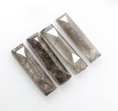 1.39 CT 8.3 X 8.2 MM Salt and Pepper Baguette Diamond, Natural Loose Baguette Diamond, Grey Color 4 Piece R7142 by RadheGems on Etsy Pear Diamond, Marquise Diamond, Emerald Cut Diamonds, Baguette Diamond, Diamond Cuts, Types Of Diamonds, Salt And Pepper Diamond, Diamond Jewelry, Gray Color