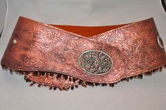 Copper Painted Leather Belt
