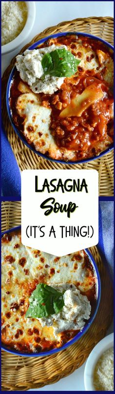 Lasagna Soup tastes better than lasagna and it is served in a bowl. Full of ricotta and parmesan and topped with mozzarella, this tomato based, sausage stuffed wonder is a favorite in our family! #lasagna #soup #familyfavorites www.thisishowicook.com
