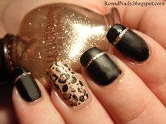 Matte animal print manicure