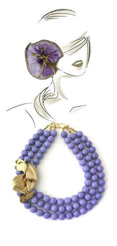 Elva Fields — necklaces, fashion illustration by Francesca Guizzo.. anbenna
