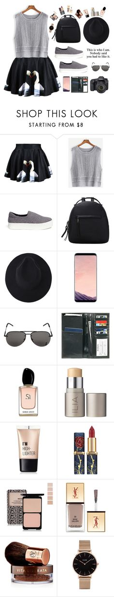 """Sign of the Times"" by youngsmile ❤ liked on Polyvore featuring Opening Ceremony, Samsung, Yves Saint Laurent, Bosca, Eos, Armani Beauty, Ilia, Charlotte Russe, Vita Liberata and CLUSE"