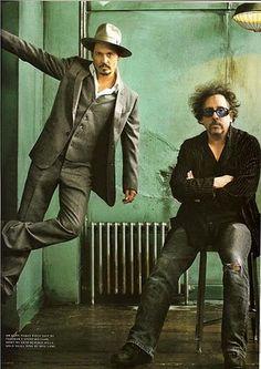 Jonny Depp & Tim Burton