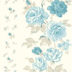Laura Ashley Clarissa Fabric in Duck Egg. Could make a good accent for wallpaper or curtain.