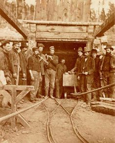 Miners in  Leadville ~ Colorado ~ 1882