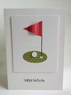 Golfing Card for Dad's Birthday* Pinned from KT Hom Designs Blog