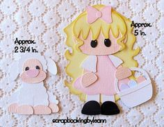 Easter Girl & Lamb Paper Piecing Set on Ebay <3