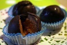 Praline cioccolato e amaretto | Ricetta cioccolatini