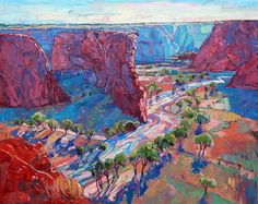 Canyon de Chelly modern oil painting by open impressionism artist Erin Hanson