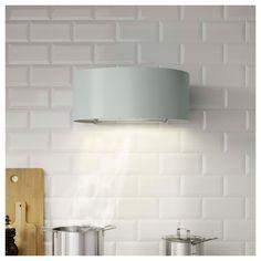 UDDEN Wall mounted extractor hood Grey-green - IKEA