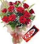 Red roses bouquet with free kitkat to Hyderabad delivery. Cheapest price range and Secured online payments. Visit our site : www.flowersgiftshyderabad.com/Combo-Gifts-to-Hyderabad.php