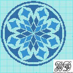 Cross-stitch Christmas ornament pattern: Blue
