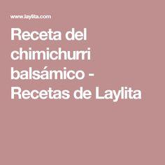 Receta del chimichurri balsámico - Recetas de Laylita