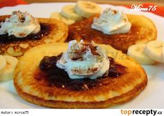 Tvarohové lívance Czech Recipes, Russian Recipes, Griddle Cakes, Sweet Desserts, Recipe Collection, Breakfast Recipes, Pancakes, Food And Drink, Sweets