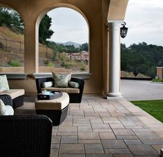 Large-format pavers have become an undeniable trend in contemporary outdoor patio design. Learn how Belgard can add these fashionable patio pavers to your yard. Outdoor Paving, Outdoor Tiles, Outdoor Decor, Outdoor Spaces, Outdoor Patio Designs, Patio Ideas, Pool Ideas, Landscaping Ideas, Backyard Ideas