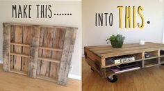 How To Make A Coffee Table Out Of An Old Pallet
