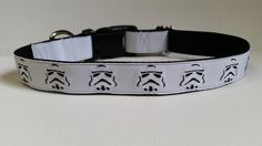 Stormtrooper Inspired Embroidered Dog Collar