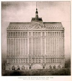 Competition design for the Municipal Building, New York City