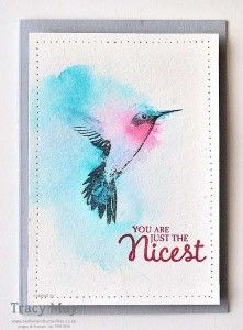 Picture Perfect from Stampin' Up! Watercolour Hummingbird Tracy May 01