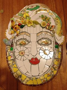 Yellow Mosaic Face | Inspired by Cleo Mussi and Mary McMahon… | Flickr