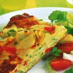 Spaanse tortilla met paprika en maïs