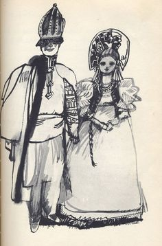 Favorite Fairy Tales Told in Russia  Retold by Virginia Haviland  Illustrated by Herbert Danska  Little Brown and Company, 1961