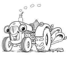 Coloriage De Ferme Avec Tracteur A Imprimer.7 Meilleures Images Du Tableau Coloriage Tracteur Coloring Book
