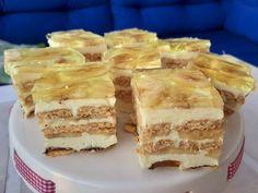 Delicja bananowa bez pieczenia Polish Recipes, Polish Food, Good Food, Yummy Food, Apple Pie, Tiramisu, Ale, Recipies, Sweets