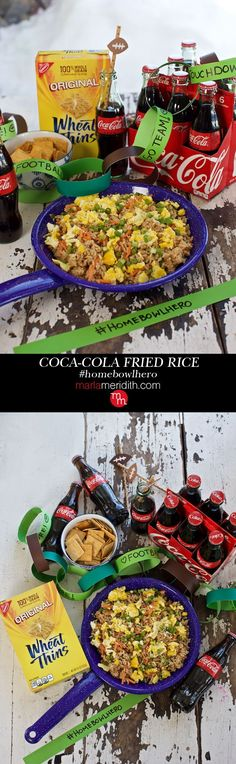 Coca-Cola Fried Rice & #HomeBowlHero Contest for Game Day! MarlaMeridith.com ( @marlameridith )
