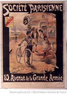 Société parisienne 10 avenue de la Grande Armée : [affiche] / [non identifié] - 1895