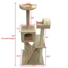 Cat Tree Scratching Post 49 Beige ** Details can be found by clicking on the image. (This is an affiliate link) Types Of Cats, Cat Feeder, Scratching Post, Cat Treats, Cat Toys, Image Link, Beige, House, Cat Types