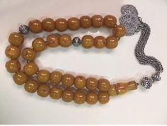 Miscky Butter scotch Cherry Amber bakelite islamic prayer 33 beads   eBay