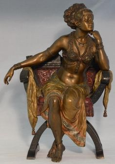 FRANZ BERGMAN AUSTRIAN COLD PAINTED VIENNA BRONZE EXOTIC DANCER  SUPERB EXAMPLE #FranzBergman