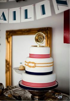 Adult nautical cake - in love with this cake!