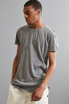 Shop UO Spliced Long Loose Scoopneck Tee at Urban Outfitters today. We carry all the latest styles, colors and brands for you to choose from right here.