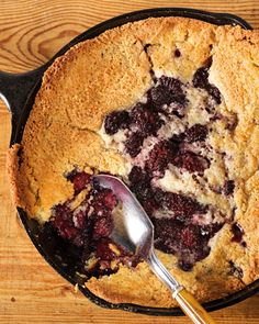 "Meme's Blackberry Cobbler | Martha Stewart Living - This delicious cobbler recipe is courtesy of Virginia Willis and can be found in her cookbook, ""Bon Appetit, Y'all."""