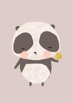 Ansichtkaart Panda by Vicky Riley Panda Wallpapers, Cute Wallpapers, Kids Prints, Baby Prints, Panda Illustration, Panda Painting, Image Deco, Panda Art, Panda Panda