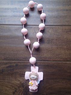 Dozen Baptism Cold Porcelain Favor Pink Angel Girl