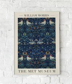 William Morris, Vintage Art Prints, Vintage Posters, Art Exhibition Posters, Science Illustration, Animal Posters, Animal Prints, Affordable Art, Bird Art